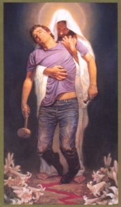 jesus holding man